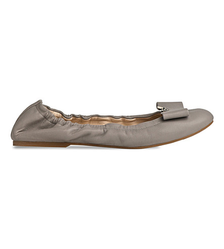 LK BENNETT Samy leather ballerina flats (Gry-dove