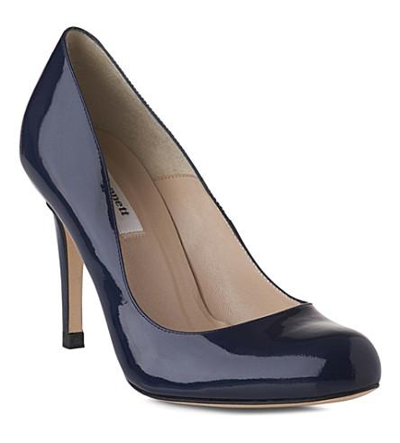 LK BENNETT Shilo mid-heel leather courts (Navy