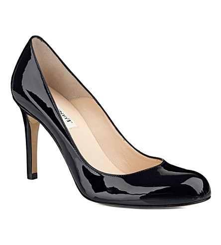 LK BENNETT Shilo mid-heel leather courts (Black