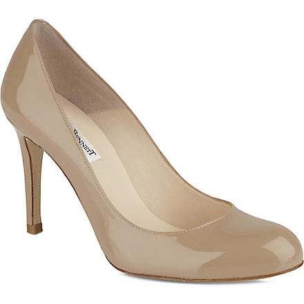 LK BENNETT Shilo mid-heel leather courts (Taupe