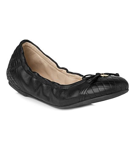 LK BENNETT Sissy leather ballet pumps (Bla-black