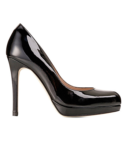 LK BENNETT Sledge patent leather courts (Black