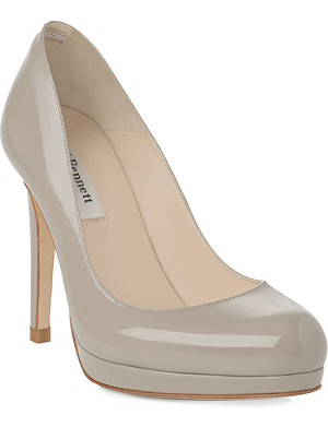LK BENNETT Sledge patent leather courts