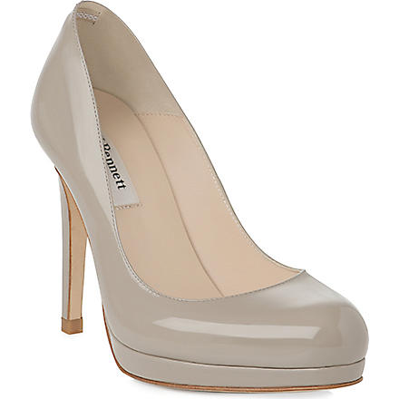 LK BENNETT Sledge patent leather courts (Gry-clay