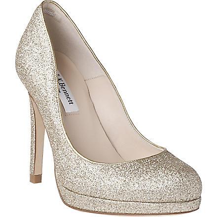 LK BENNETT Sledge glitter-embellished courts (Gol-gold