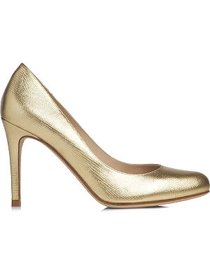 LK BENNETT Stila metallic leather courts