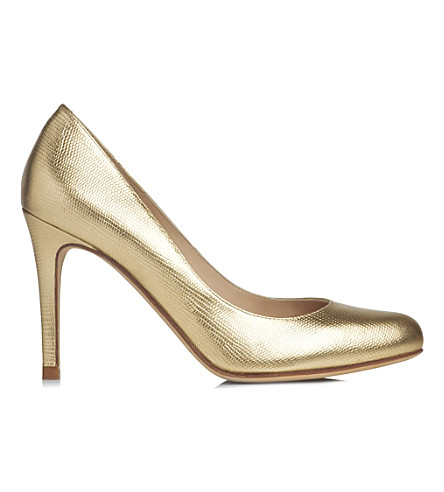 LK BENNETT Stila metallic leather courts (Gol-soft gold