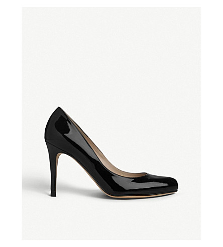 LK BENNETT Stila patent-leather courts (Bla-black