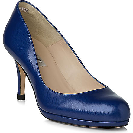 LK BENNETT Sybila patent leather courts (Blu-ultra blue