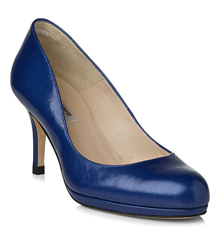 LK BENNETT Sybila patent leather courts (Blu-ultra+blue