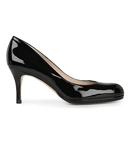 LK BENNETT Sybila patent-leather courts (Black