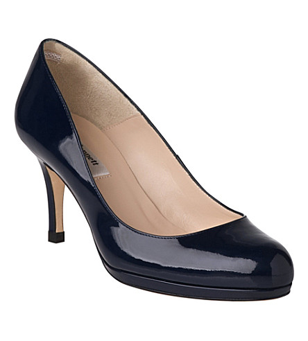 LK BENNETT Sybila patent leather courts (Blu-navy