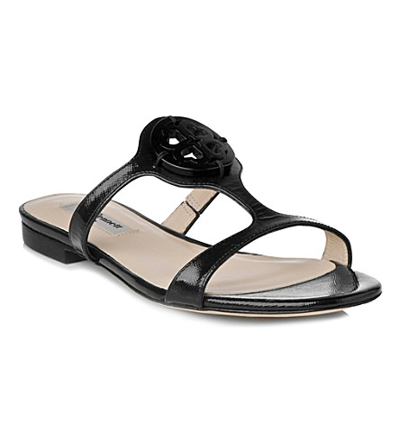 LK BENNETT Tara leather sandals (Bla-black