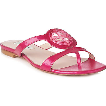 LK BENNETT Tara leather sandals (Pin-fuchsia