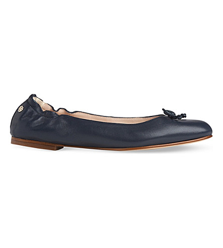 LK BENNETT Thea leather ballet flats (Blu-navy