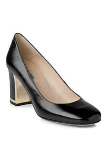 LK BENNETT Tia patent-leather block-heel courts