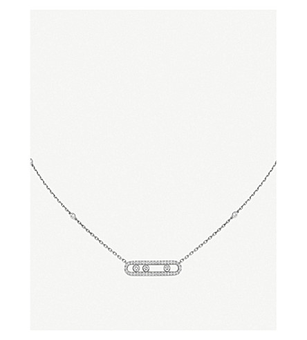 MESSIKA Baby Move Pavé 18ct white-gold and diamond necklace (White