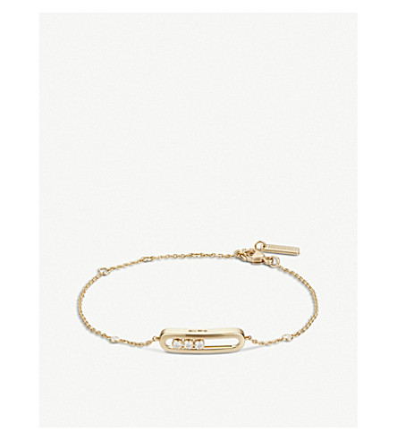 MESSIKA Baby Move 18ct gold and diamond bracelet (Yellow