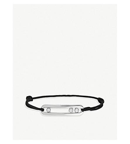 MESSIKA Move 18ct white-gold, diamond and cord bracelet (White