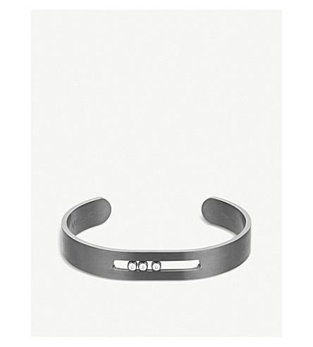 MESSIKA Move titanium graphite white diamonds (Grey
