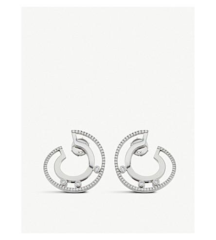 MESSIKA Move Romane 18ct white-gold and diamond earrings (White