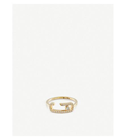 MESSIKA Gigi Hadid Move Addiction 18ct white-gold diamond ring (Yellow