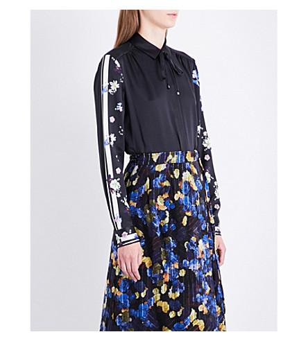 LK BENNETT L.K. Bennett x Preen Devoto floral-detail silk shirt (Bla-black