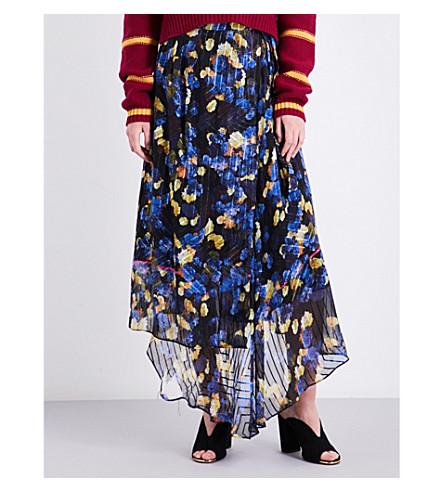 LK BENNETT Reed devoré silk midi skirt (Pri-rose