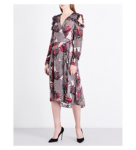 LK BENNETT L.K. Bennett x Preen Sioux fil-coupé midi dress (Pri-tulip