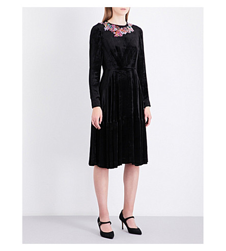 LK BENNETT L.K. Bennett x Preen Patti velvet dress (Bla-black