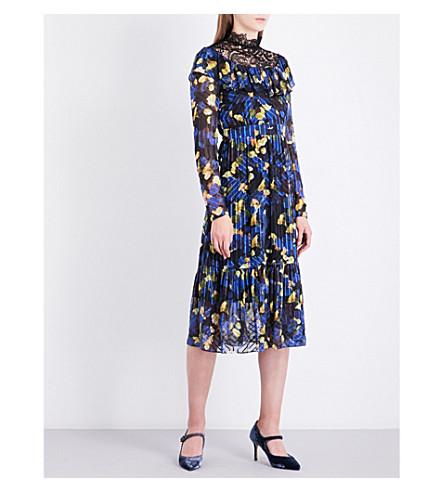 LK BENNETT L.K. Bennett x Preen Reed Rose silk dress (Pri-rose