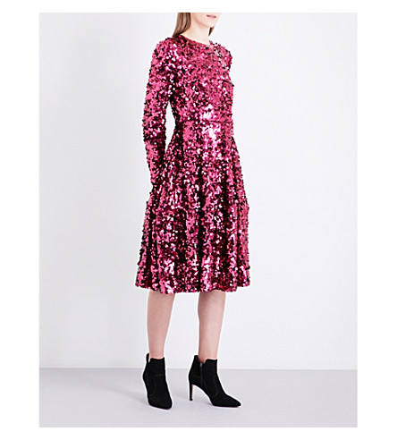 LK BENNETT L.K. Bennett x Preen Sonic sequin dress (Pin-deep+rose