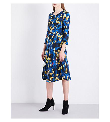 LK BENNETT L.K. Bennett x Preen Syd crepe dress (Blu-blue