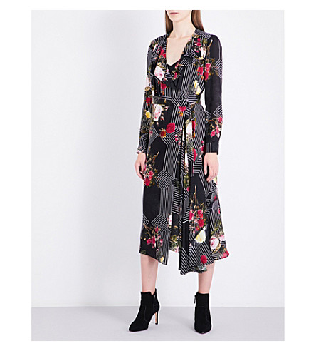 LK BENNETT L.K. Bennett x Preen Vali silk dress (Bla-black
