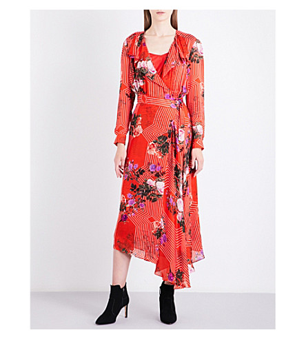 LK BENNETT L.K. Bennett x Preen Vali silk dress (Pin-rose
