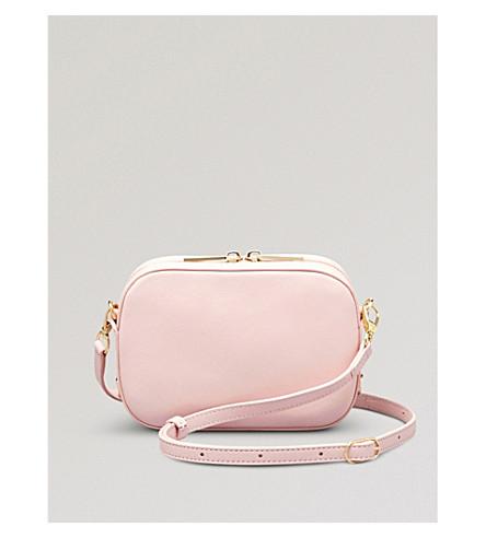POP & SUKI Camera leather crossbody bag (Cotton candy