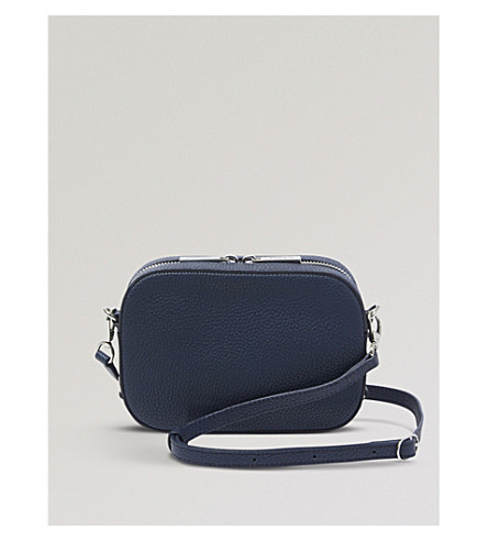 POP & SUKI Camera leather crossbody bag (Pebbled oxford