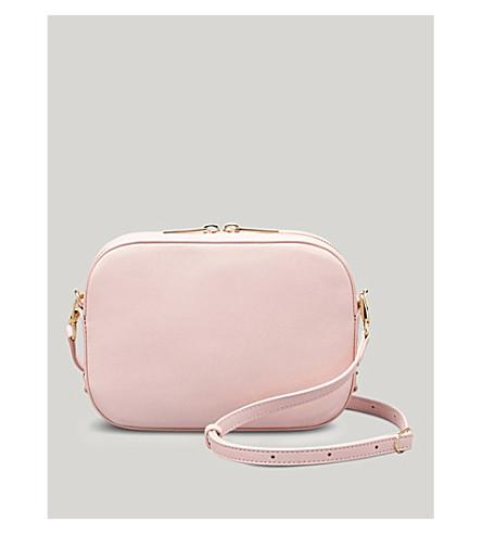 POP & SUKI Bigger camera leather crossbody bag (Cotton candy