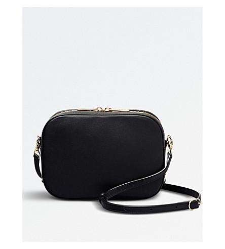 POP & SUKI Bigger camera leather crossbody bag (Noir