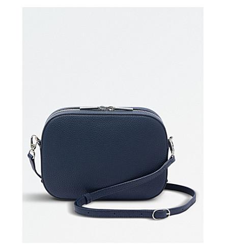 POP & SUKI Bigger camera leather crossbody bag (Pebbled oxford