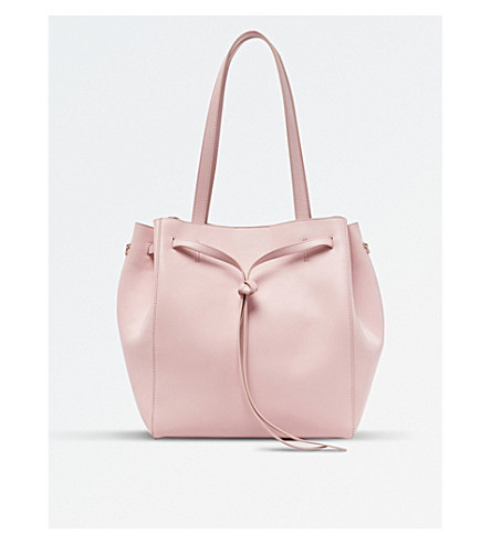 POP & SUKI Leather Carryall (Cotton candy