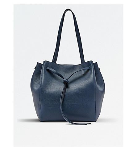 POP & SUKI Leather Carryall (Pebbled oxford