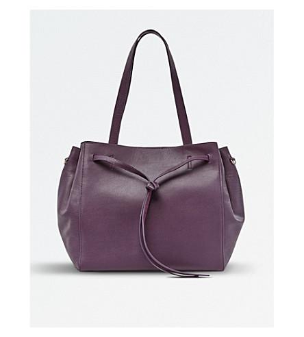 POP & SUKI Leather Carryall (Plum