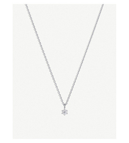 BUCHERER FINE JEWELLERY Collitaire Heaven anchor 18ct white gold and diamond necklace