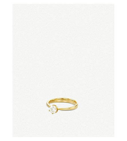 BUCHERER FINE JEWELLERY Solitaire Heaven 18ct yellow gold and diamond ring