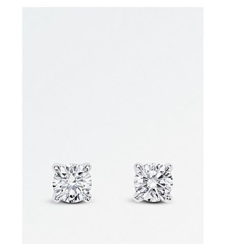 BUCHERER 高级珠宝欢乐18ct 白金和钻石耳环