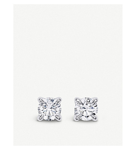 BUCHERER FINE JEWELLERY Joy Solitaire 18ct white-gold and diamond earrings