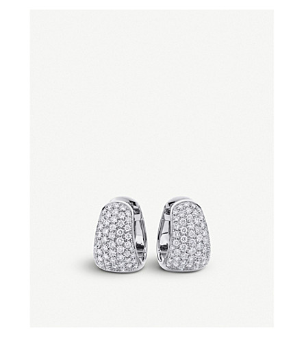 BUCHERER FINE JEWELLERY Classics 18ct white-gold diamond earrings