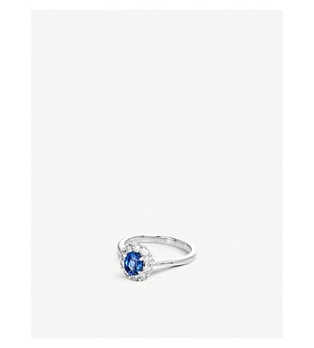 BUCHERER 高级珠宝经典18ct 白金钻石及宝石 RING