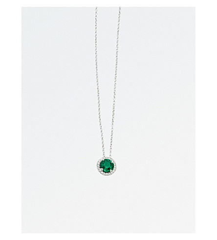 BUCHERER FINE JEWELLERY Classics 18ct white-gold, emerald and diamond necklace